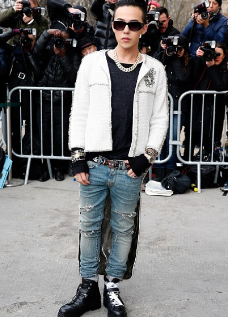 G-Dragon - Chanel Fashion Show - Press - 27 Jan 2015 - 01