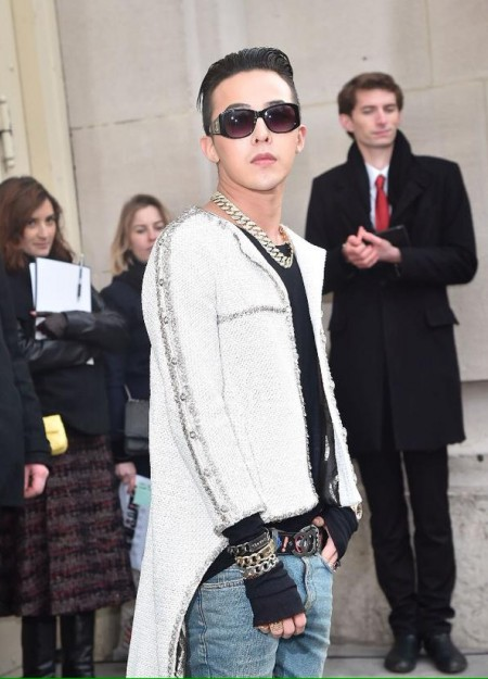 G-Dragon - Chanel Fashion Show - Press - 27 Jan 2015 - 10