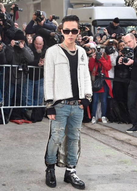 G-Dragon - Chanel Fashion Show - Press - 27 Jan 2015 - 11