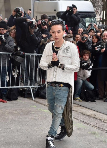 G-Dragon - Chanel Fashion Show - Press - 27 Jan 2015 - 13