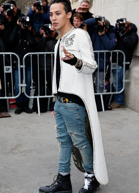 G-Dragon - Chanel Fashion Show - Press - 27 Jan 2015 - 23
