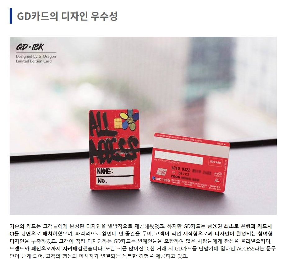 The G Dragon Designed Gd Banking Card Won The 2018 It Award For
