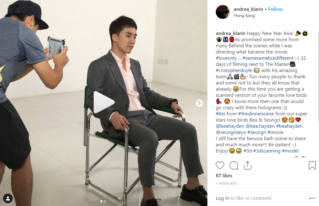 video-andrea-klarin-shares-behind-the-scenes-movie-of-seungri-for-the-movie-love-only
