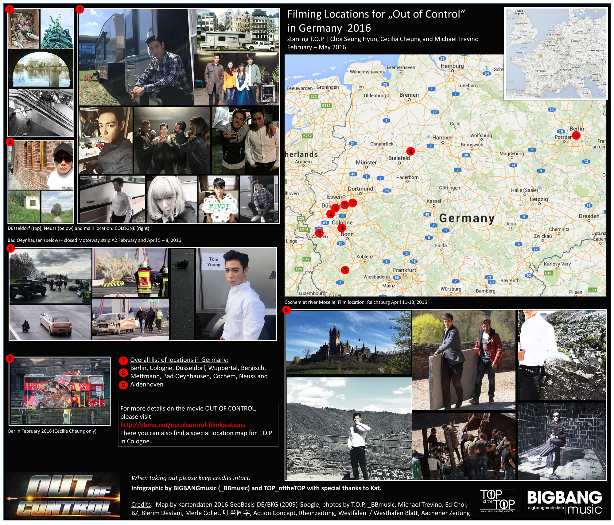 Out of Control Movie Locations in Germany 2016 starring T.O.P Choi Seung Hyun