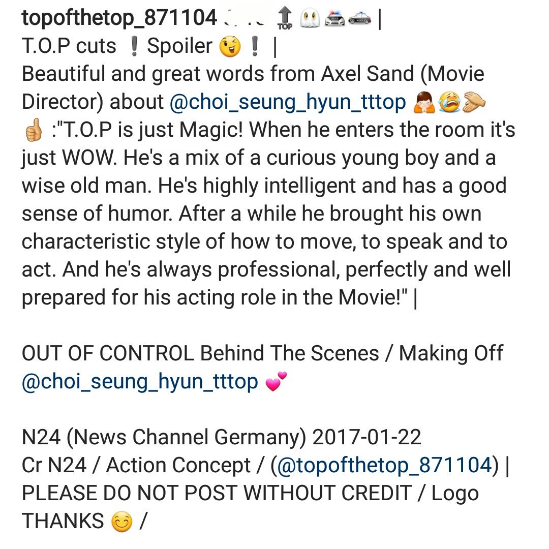 Translations MAKING OF TOP Out Of Control (1)