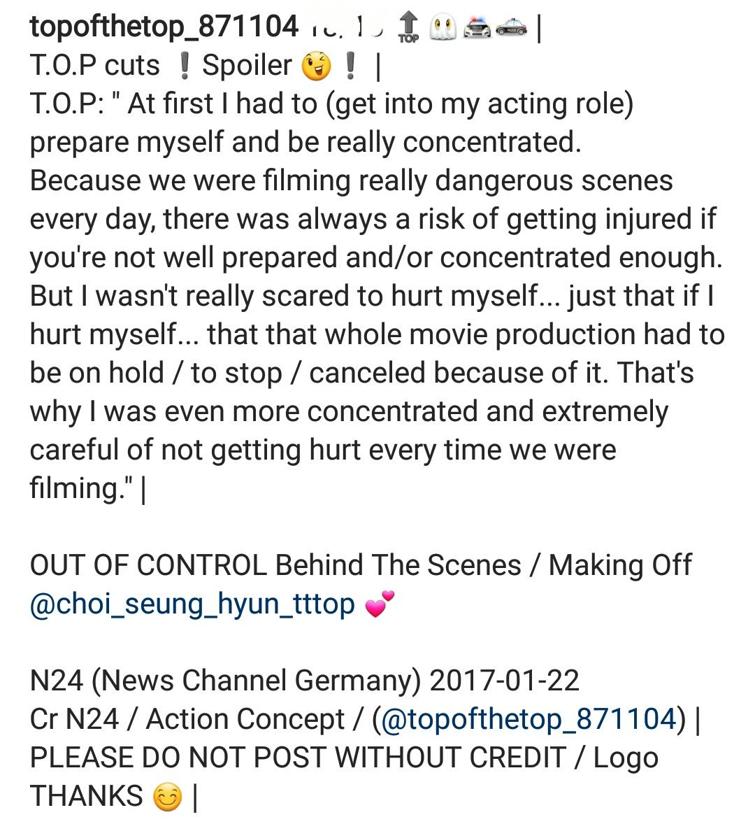 Translations MAKING OF TOP Out Of Control (3)