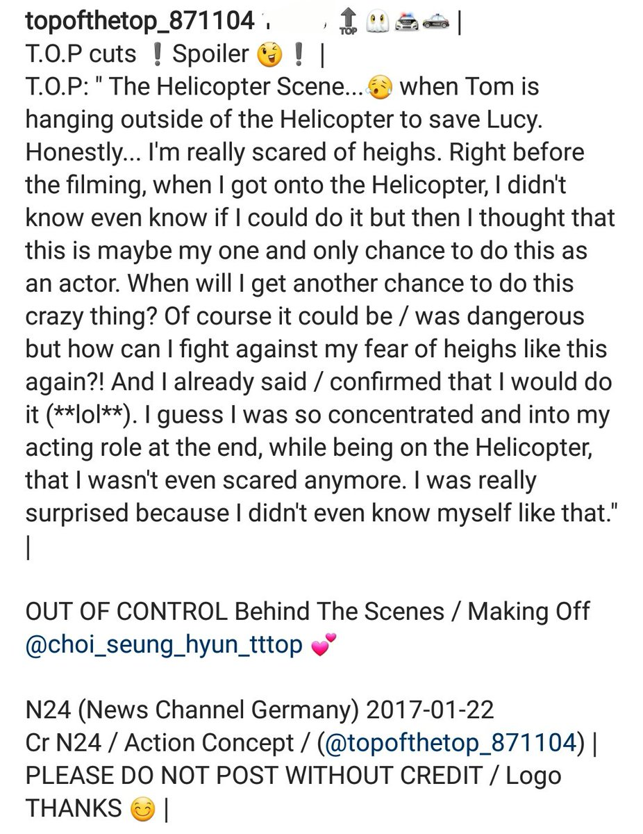 Translations MAKING OF TOP Out Of Control (2)