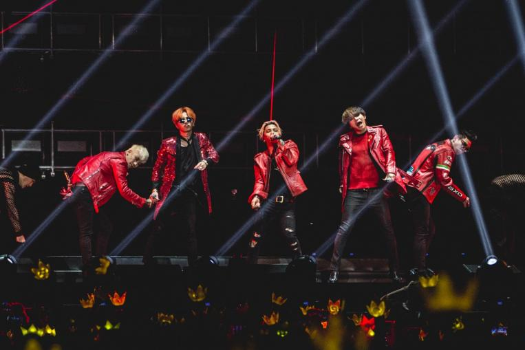 bigbang rocked fans with solid vocals and off-the-wall humour